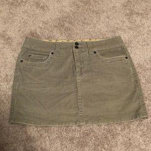 Green soft stretchy corduroy skirt size 5